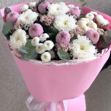 Букет цветов - микс №102 круглый