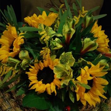 Букет цветов №405 на каркасе