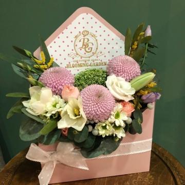 Композиция №302 цветы в конверте