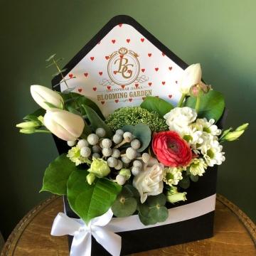 Композиция №303 цветы в конверте