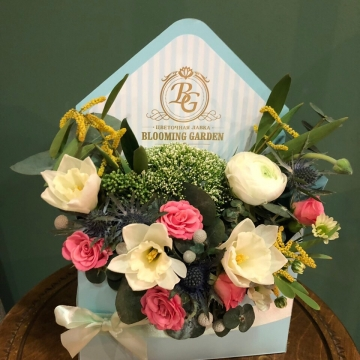 Композиция №304 цветы в конверте