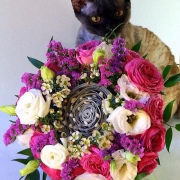 Букет цветов №404 на каркасе