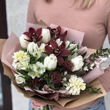 Букет цветов - микс №105