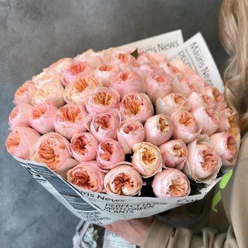Букет №007 из пионовидных роз