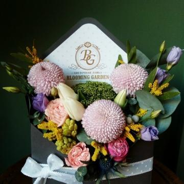 Композиция №301 цветы в конверте
