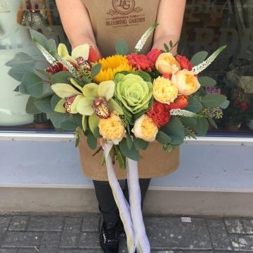 Букет цветов - микс №109