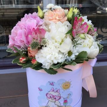 Композиция №018 цветы в коробке