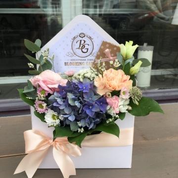 Композиция №306 цветы в конверте