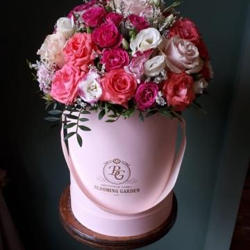 Композиция №021 розы в коробке