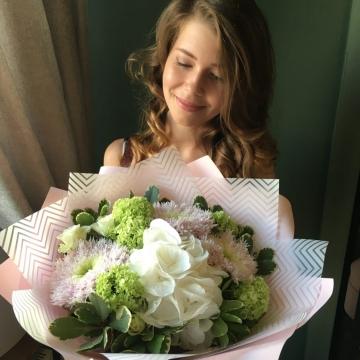 Букет цветов - микс №114
