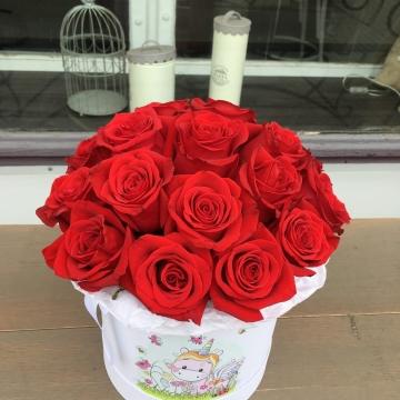 Композиция №025 розы в коробке