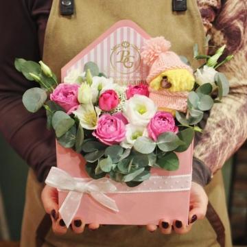 Композиция №308 цветы в конверте