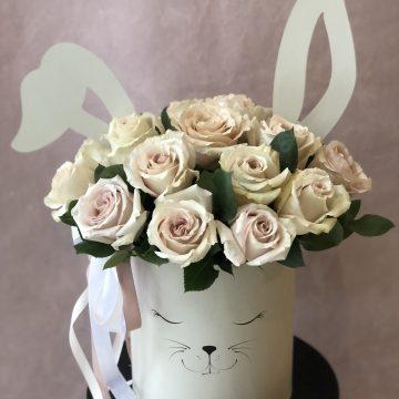 Композиция №034 розы в коробке
