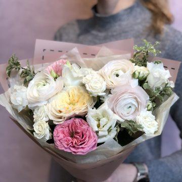 Букет цветов - микс №123